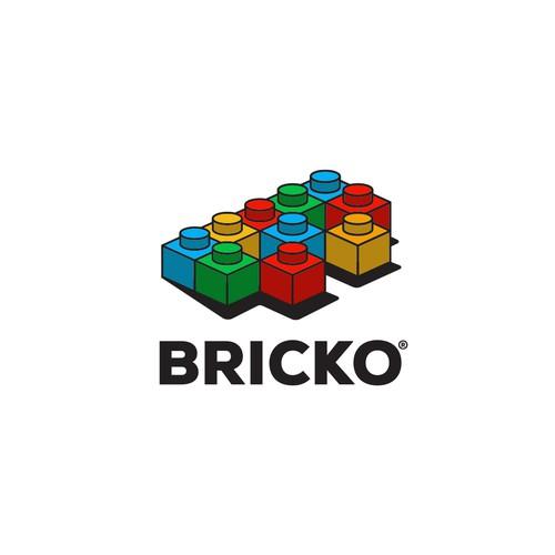 Brick logo with the title 'Bold Logo Design for a LEGO platform'