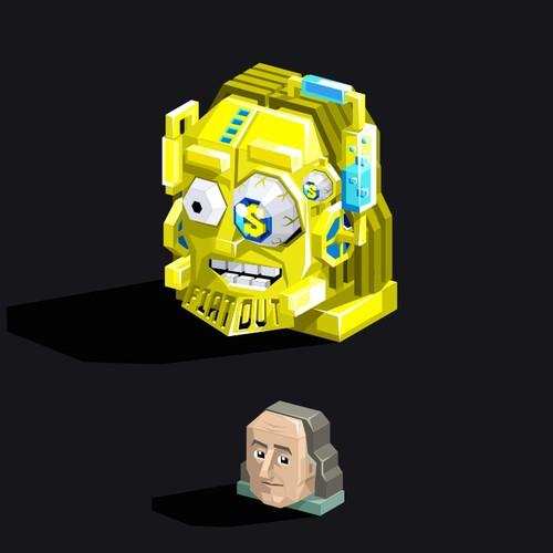 Crazy design with the title 'Crazy Benjamin Franklin'
