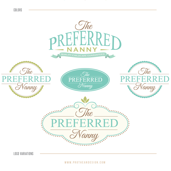 Nanny logo with the title 'The Preferred Nanny'