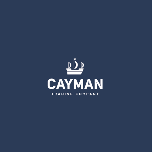 Boat logo with the title 'Cayman Trading Company Logo'