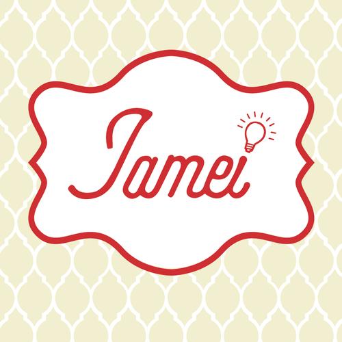 Beige design with the title 'Jamai Logo'