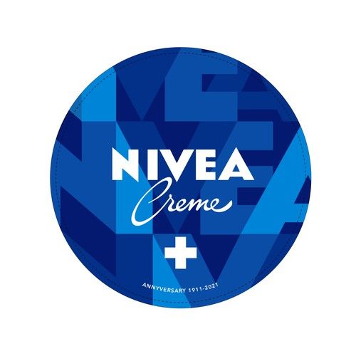 High-end packaging with the title 'NIVEA Creme Swiss Anniversary Edition packaging'