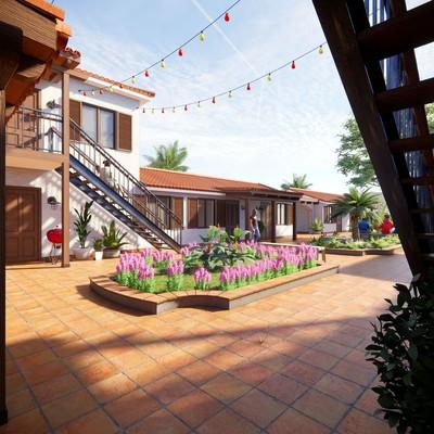 3D Design of Hacienda Condominium