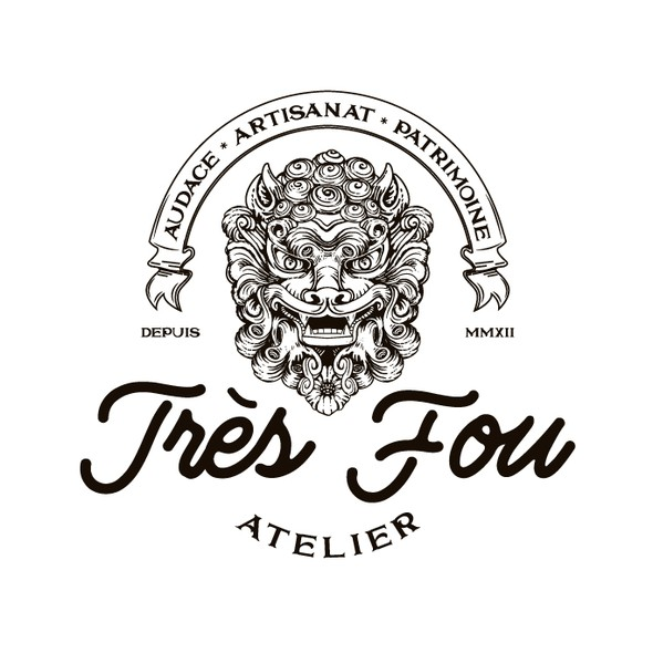 Atelier logo with the title 'Logo for Très Fou Atelier'