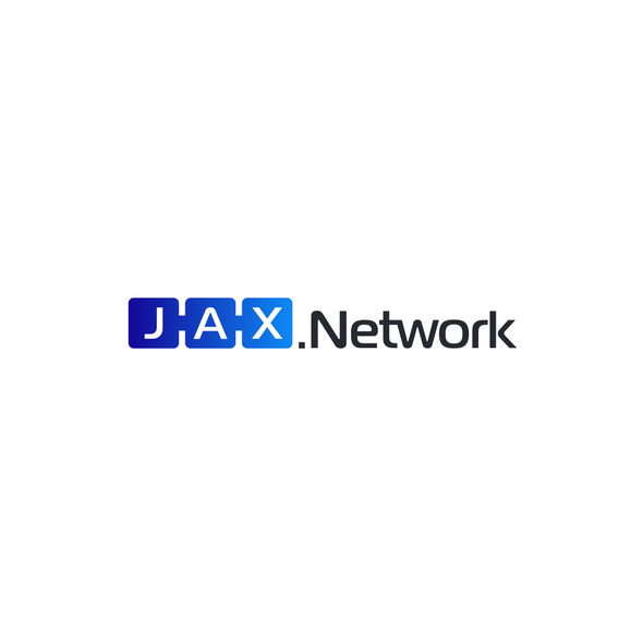 Network design with the title 'JAX network'