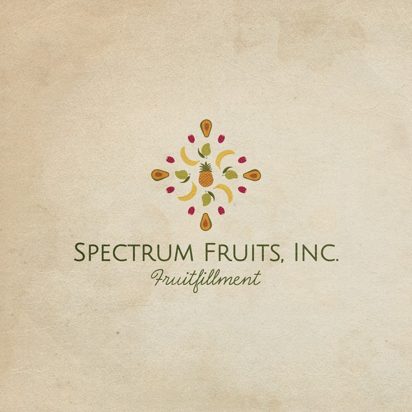 Juice brand with the title 'Logo for Spectrum fruits'