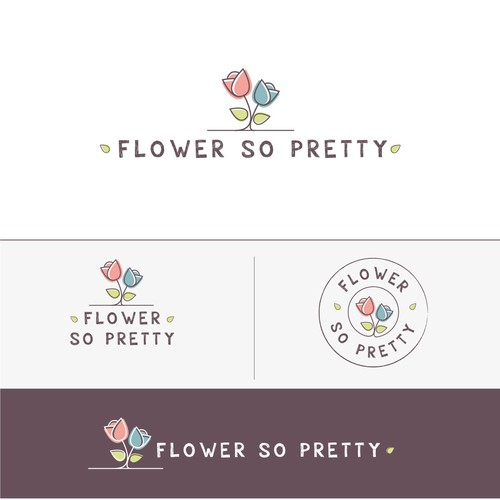 Flower brand with the title 'Flower so pretty'