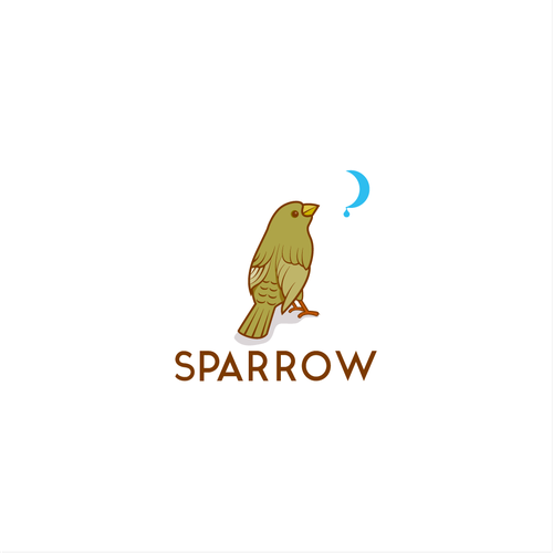 Animal logo with the title 'Bold logo concept for Sparrow'