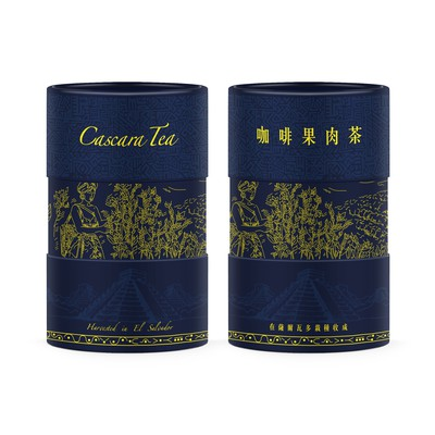Product packaging for Cascara Tea