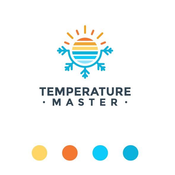Temperature design with the title 'Sun Winter'