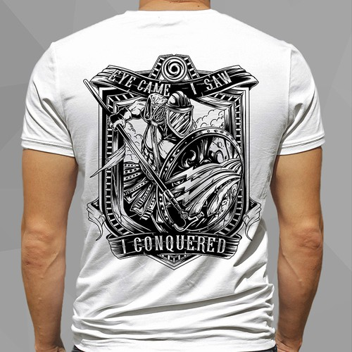 Illustrated t-shirt with the title 'spartan lineman awesome'