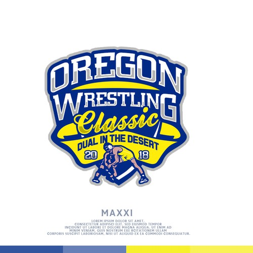 Portland logo with the title 'Wrestling logo'