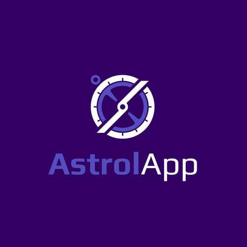 Zodiac logo with the title 'Logo for AstrolApp mobile application'