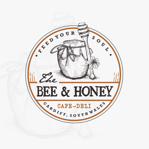 Mature logo with the title 'The Bee & Honey'