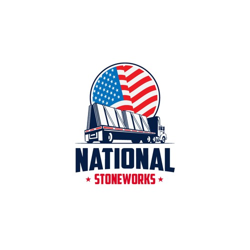 National design with the title 'patriotic logo for national stoneworks company'
