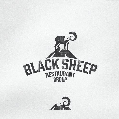 Sheep design with the title 'Vintage restaurant logo'