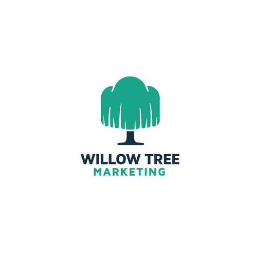 Willow logo with the title 'Willow Tree Marketing Logo Concept'
