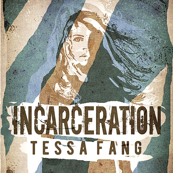 Prison design with the title 'Science fiction book cover - dystopian prison theme'
