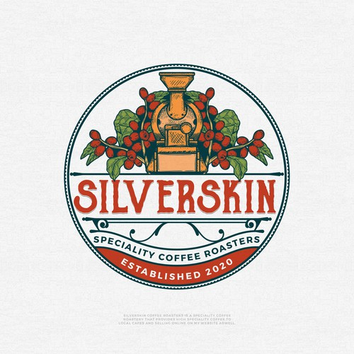 Coffee shop design with the title 'Silverskin'