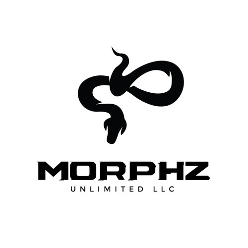 Python design with the title 'Snake Logo Concept for Morphz Unlimited'