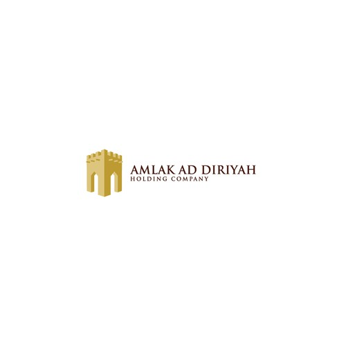 Contractor logo with the title 'logo design for amlak holding company'