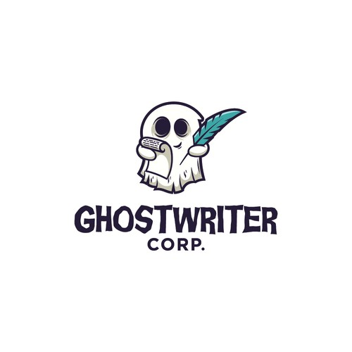 Ghost design with the title 'Ghostwriter Corp. Logo'