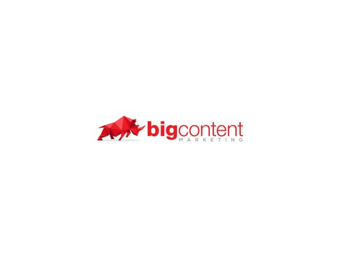 Rhino design with the title 'Logo Design for Big Content'