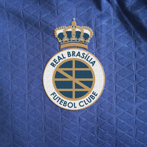 Brazil logo with the title 'Logo concept for a football club'