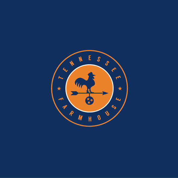 Tennessee design with the title 'Tennessee Farmhouse Logo'