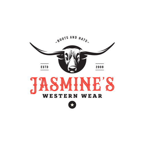 Buffalo logo with the title 'Jasmine's Wentern Wear'