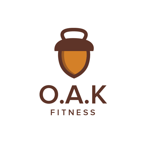 Kettlebell design with the title 'O.A.K.'
