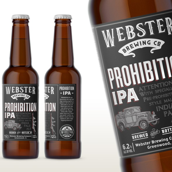 Gangster design with the title 'IPA label'
