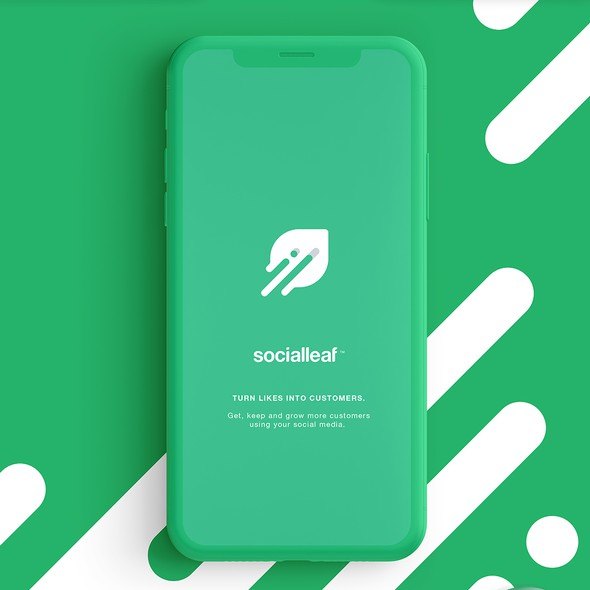 Marketing brand with the title 'Social Leaf'