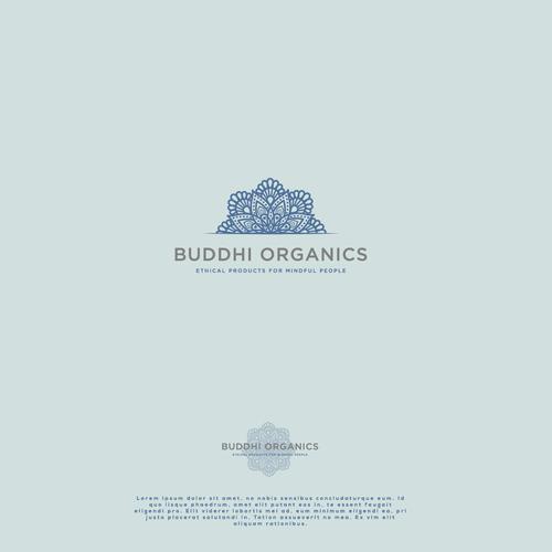 Oriental logo with the title 'buddhi mandala'