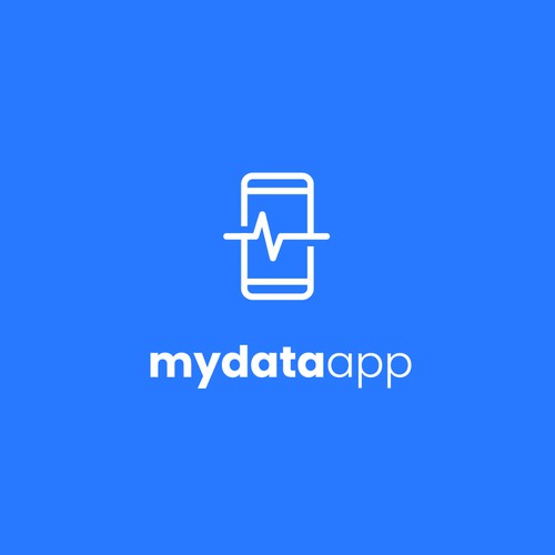 Medicinal logo with the title 'Minimal health logo for Mydata app'
