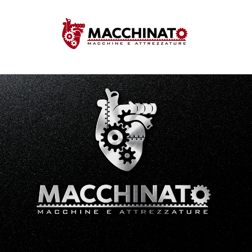 Mechanic logo with the title 'Macchinato'