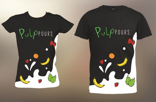 Fruit t-shirt with the title 'Pulp Pours t-shirt'