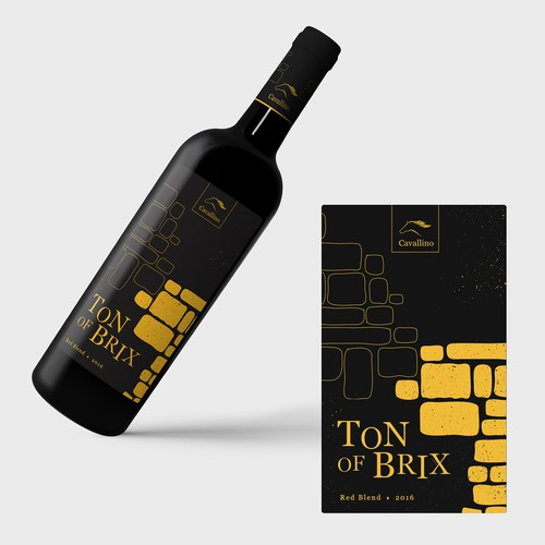 Contemporary label with the title 'Modern Wine Label Design'