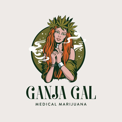 Girl logo with the title 'Ganja Gal'
