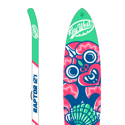 Product design artwork with the title 'Paddle Board Artwork'