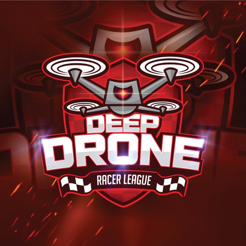 League logo with the title 'DEEP DRONE'