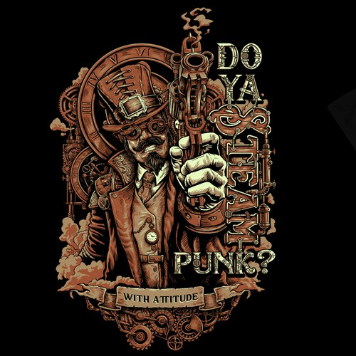 Classic t-shirt with the title 'do ya steampunk?'