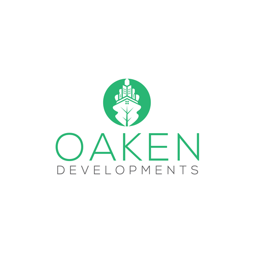 Oak leaf logo with the title 'Oaken Developments'