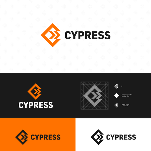 Combination brand with the title 'Strong and Minimalistic Logo for Cypress'