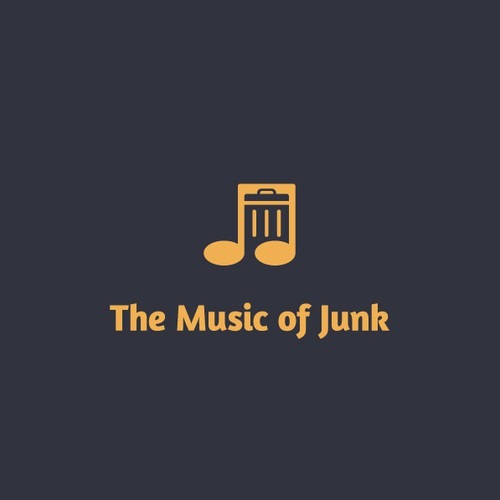 Treble clef logo with the title 'The Music of Junk'