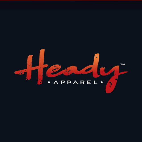 Warm design with the title 'design logo for Heady Apparel'