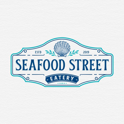Street design with the title 'Seafood Street Eatery'