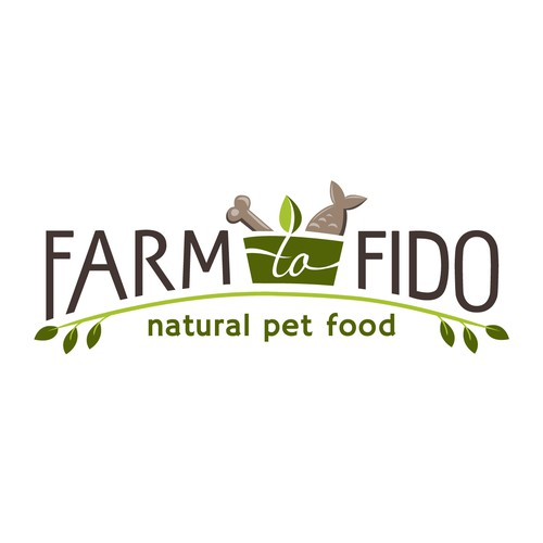 Dog and cat logo with the title 'Health pet food'