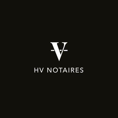Notary logo with the title 'Logo Concept   HV Notaires'