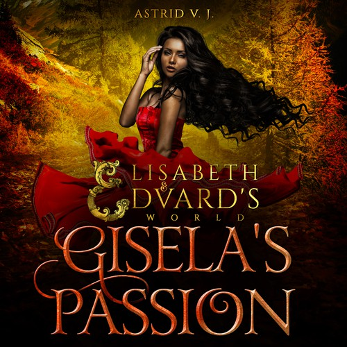Paperback design with the title '- Gisela's Passion - Romance book cover design'